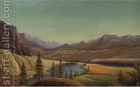 View Of Lake Okanagan by Grafton Tyler Brown - Reproduction Oil Painting