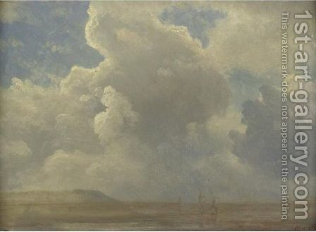 Cloud Study by Albert Bierstadt - Reproduction Oil Painting