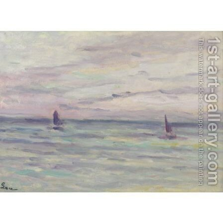 Marine A Honfleur by Maximilien Luce - Reproduction Oil Painting