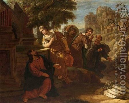 Christ At The Well by Dutch School - Reproduction Oil Painting