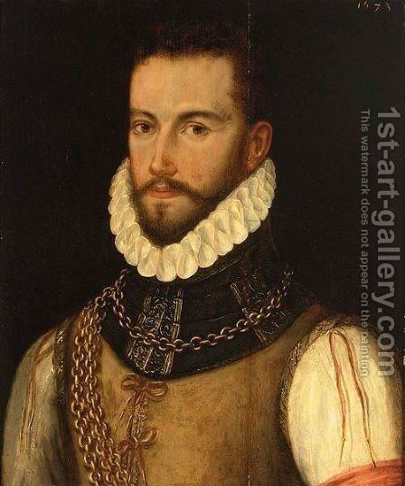 Portrait Of A Bearded Gentleman, Bust Length, With A Ruff Collar by (after) Frans, The Elder Pourbus - Reproduction Oil Painting