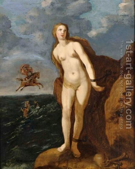 Perseus And Andromeda by Hendrick Bloemaert - Reproduction Oil Painting