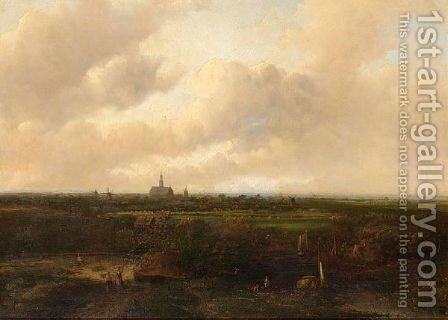 A Panoramic View Of Haarlem by Jan Evert Morel - Reproduction Oil Painting