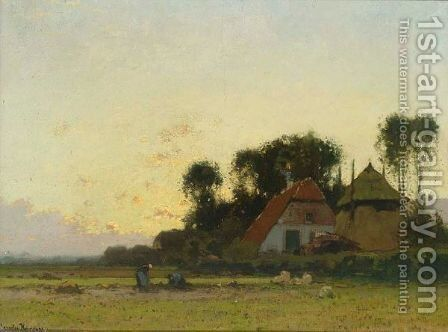 A Peasant Woman Working On The Fields by Cornelis Kuypers - Reproduction Oil Painting
