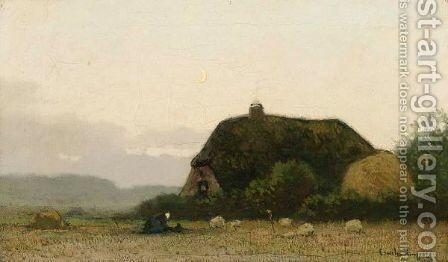 A Peasant Woman Near A Farm by Cornelis Kuypers - Reproduction Oil Painting