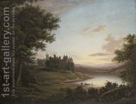 Linlithgow Palace Looking West by (after) Alexander Nasmyth - Reproduction Oil Painting