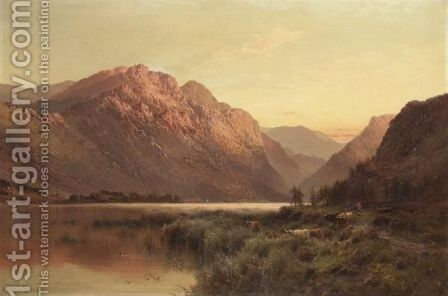 An Aberdeenshire Lake by Alfred de Breanski - Reproduction Oil Painting