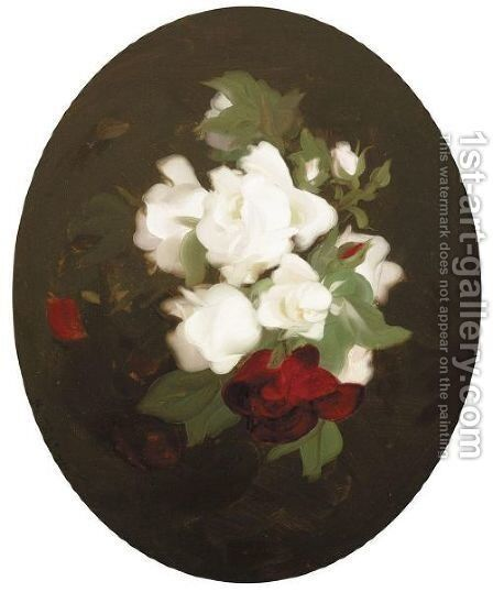Red And White Roses by James Stuart Park - Reproduction Oil Painting