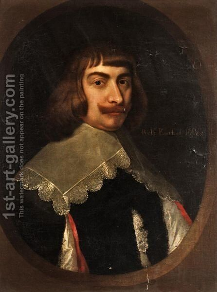 Portrait Of Robert Devereux, 3rd Earl Of Essex by (after) Johnson, Cornelius I - Reproduction Oil Painting