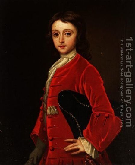 Portrait Of A Young Boy by (attr. to) Jervas, Charles - Reproduction Oil Painting