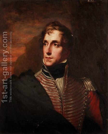 Portrait Of General Pattie by (after) Sir George Hayter - Reproduction Oil Painting