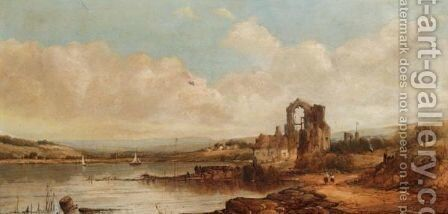 Landscape With Ruins by Alfred Vickers - Reproduction Oil Painting