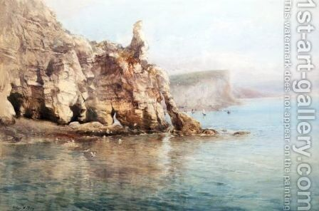 Coastal Scene by Arthur W. Perry - Reproduction Oil Painting