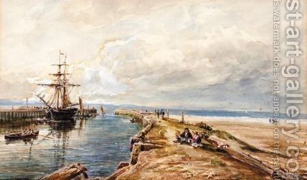 The rest near the harbour by Arthur Perigal - Reproduction Oil Painting