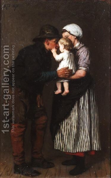 The Fisherman's Return by David Adolf Constant Artz - Reproduction Oil Painting