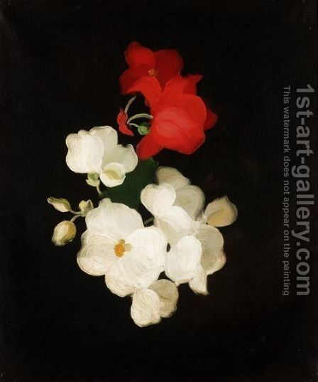 Red And White Roses 2 by James Stuart Park - Reproduction Oil Painting