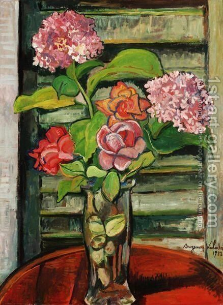 Fleurs by Suzanne Valadon - Reproduction Oil Painting