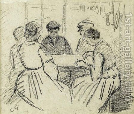 Scene D'Interieur by Camille Pissarro - Reproduction Oil Painting