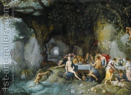 The Feast Of The Gods by Adriaan van Stalbemt - Reproduction Oil Painting