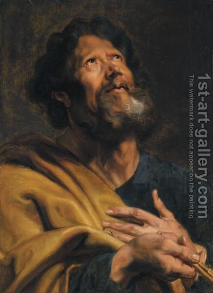 Saint Peter by (after) Dyck, Sir Anthony van - Reproduction Oil Painting