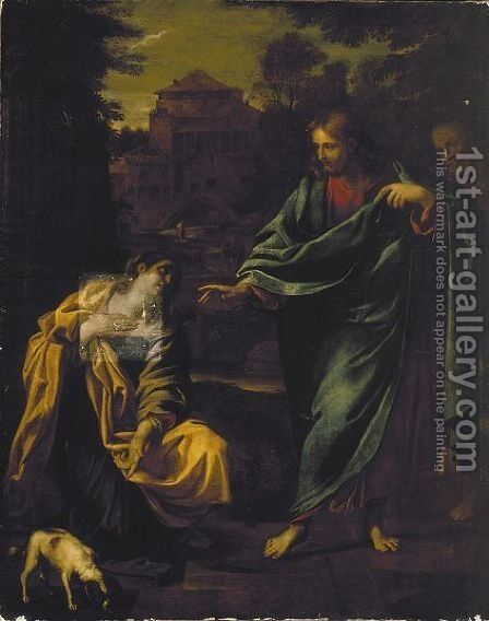Christ And The Woman Of Canaan by Annibale Carracci - Reproduction Oil Painting