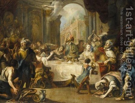 Belshazzar's Feast by Anton Kern - Reproduction Oil Painting