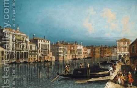 Venice, A View Of The Grand Canal Looking Towards The Pescheria by Jacob More - Reproduction Oil Painting