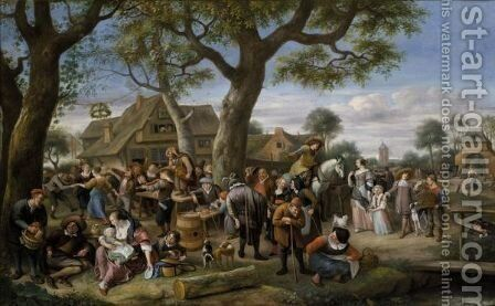 The Fair At Warmond by Jan Havicksz. Steen - Reproduction Oil Painting
