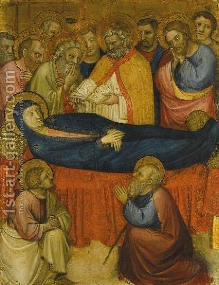 The Dormition Of The Virgin by (after) Jacopo Avanzi - Reproduction Oil Painting
