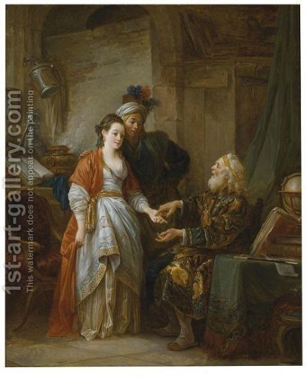 The Fortune-Teller by Jean-Baptiste Le Prince - Reproduction Oil Painting