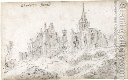 View Of Elterberg With The Abbey Partly In Ruins by Jan van Goyen - Reproduction Oil Painting