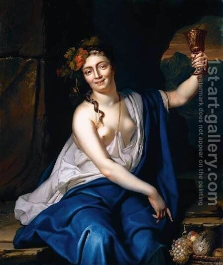 A Bacchante 1719 by Heroman Van Der Mijn - Reproduction Oil Painting