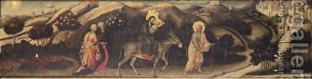 The Flight Into Egypt by (after) Gentile Da Fabriano - Reproduction Oil Painting