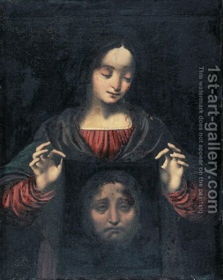 Saint Veronica With Her Veil by (after) Marco D' Oggiono - Reproduction Oil Painting