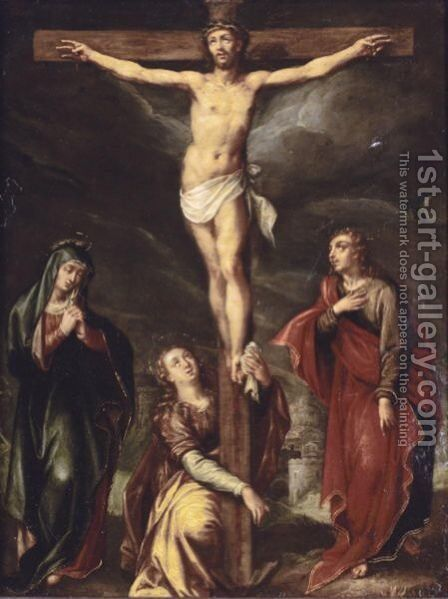 The Crucifixion by (after) Maarten De Vos - Reproduction Oil Painting