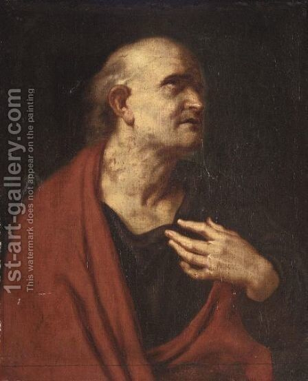 Saint Bartholomew by (after) Sir Peter Paul Rubens - Reproduction Oil Painting