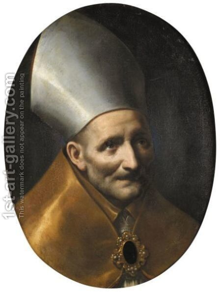 Saint Antoninus, Archbishop Of Florence by (after) Carlo Dolci - Reproduction Oil Painting