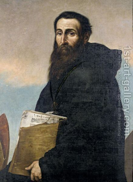 Saint Augustine by (after) Jusepe De Ribera - Reproduction Oil Painting