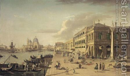 Venice, A View Of The Molo With The Column Of Saint Theodore by (after) (Giovanni Antonio Canal) Canaletto - Reproduction Oil Painting