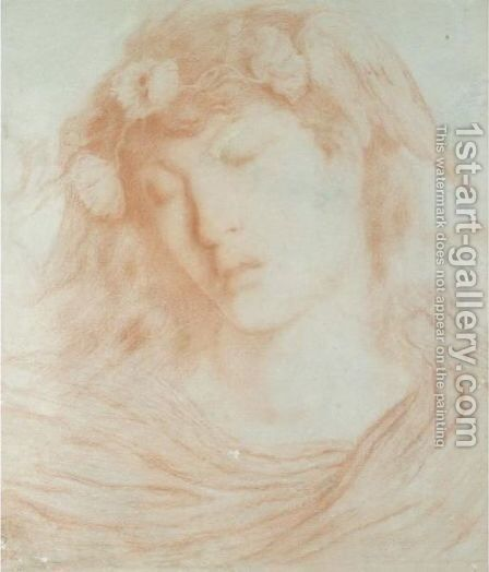 Hypnos, The God Of Sleep 2 by Simeon Solomon - Reproduction Oil Painting