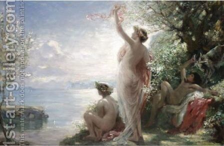 In Elysium by Charles Sims - Reproduction Oil Painting