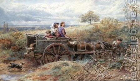 Going To Market 2 by Myles Birket Foster - Reproduction Oil Painting