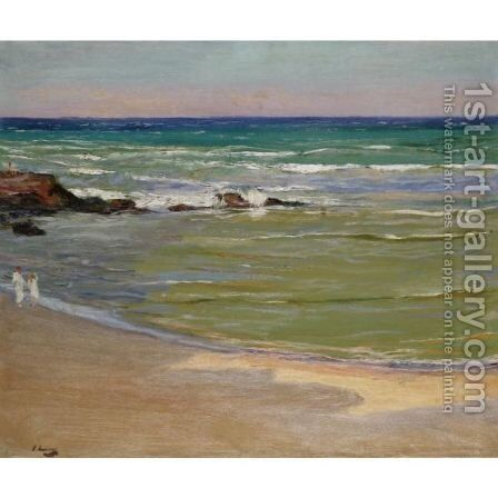 The Beach - Evening by Sir John Lavery - Reproduction Oil Painting