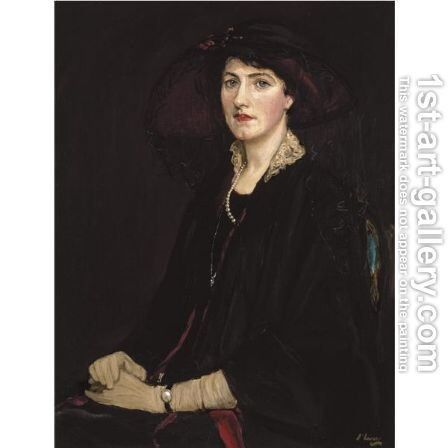 Portrait Of Lady Raeburn by Sir John Lavery - Reproduction Oil Painting