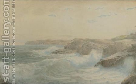 Breaking Waves 3 by William Trost Richards - Reproduction Oil Painting