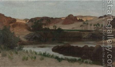 Assuan, Egypt by Elihu Vedder - Reproduction Oil Painting