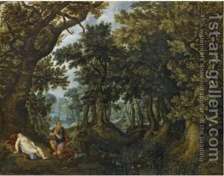 Cephalus And Procris by Denys Van Alsloot - Reproduction Oil Painting