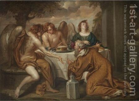 Abraham And The Three Angels by (after) Dyck, Sir Anthony van - Reproduction Oil Painting