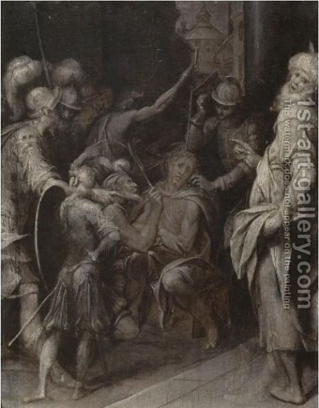 The Mocking Of Christ by Camillo Procaccini - Reproduction Oil Painting