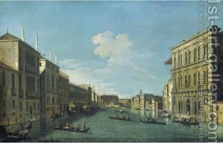Venice, A View Of The Grand Canal From The Palazzo Vendramin-Calergi Looking Towards The Cannaregio by (after) (Giovanni Antonio Canal) Canaletto - Reproduction Oil Painting